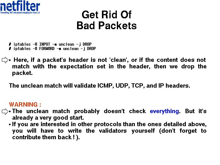 Random Network Filtering Tricks - Get Rid Of Bad Packets